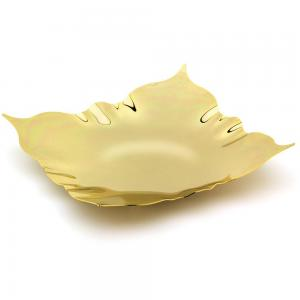 Modern Fruit Bowl Gold Plated by Chinelli - made in Italy