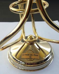 Încălzitor de cognac placat cu aur by Chinelli - Made in Italy2
