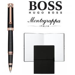 Set Nero Uno Red Gold Rollerball Pen Montegrappa si Note Pad Hugo Boss0