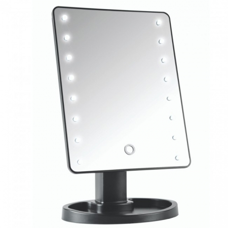 Oglinda Mare cu Leduri si Touch 22 cm, neagra1