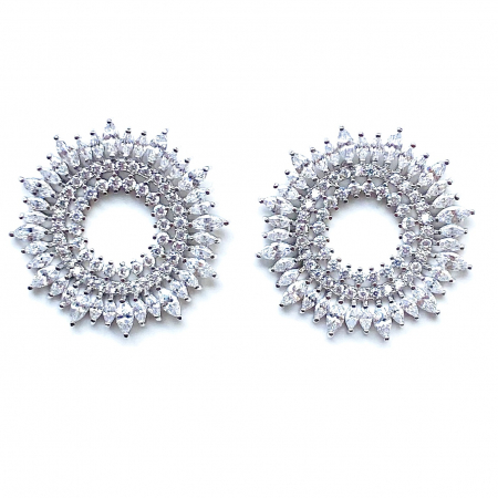 Round Marquise Cut Diamonds Cercei [1]