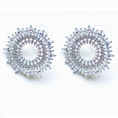 Round Marquise Cut Diamonds Cercei [0]