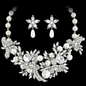 Set Borealy Pearl Colier şi Cercei Opulent Luxury Wedding2
