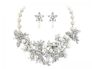 Set Borealy Pearl Colier şi Cercei Opulent Luxury Wedding0
