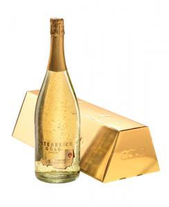 Cadou Gold Luxury Şampanie - cu foiţă de aur 23 karate & Gold Coffee - personalizabil1
