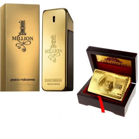 Paco Rabanne 1 Million 100 ml & Carti de joc Gold0