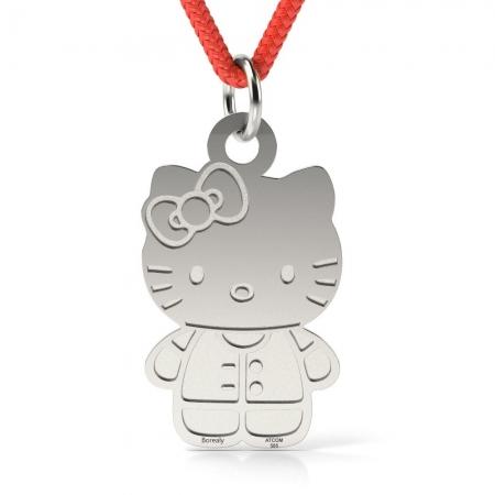 Pandantiv Hello Kitty cu Snur reglabil din Argint 925 personalizabil