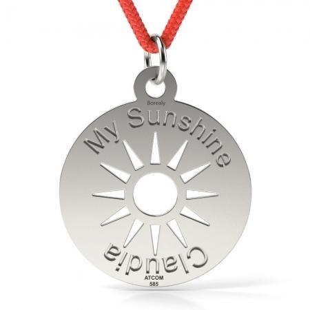 Pandantiv My Sunshine cu Snur reglabil din Argint 925 personalizabil