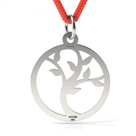 Pandantiv Pomul Vietii cu Snur reglabil din Argint 925 personalizabil