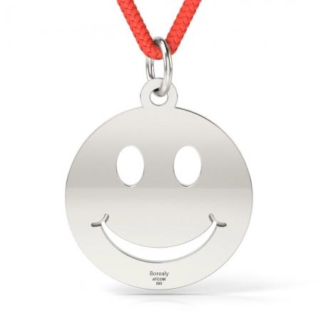 Pandantiv Smiley cu Snur reglabil din Argint 925 personalizabil