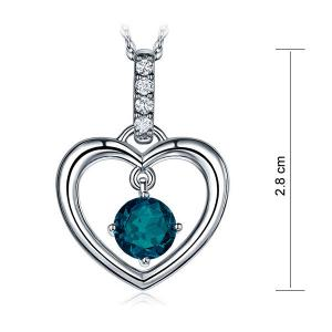 Pandantiv Borealy Aur Alb 14 K Topaz Natural London Blue Heart6