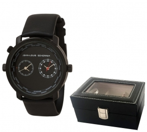 Passion for Travel Set Ceas Dual Time Zone Jean-Louis Scherrer si Cutie 3 Ceasuri - personalizabil0