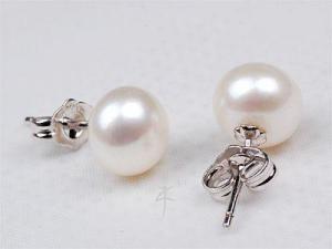 Cercei Perle Albe 7 mm AA Studs1