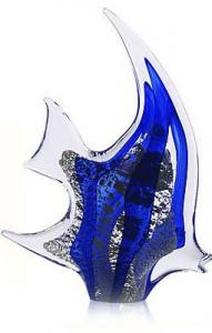 Pesce Angelo Argint by Marcolin (Handmade crystal) 18 cm - Made in Italy1