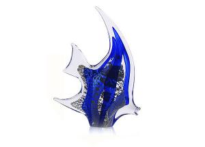 Pesce Angelo Argint by Marcolin (Handmade crystal) 18 cm - Made in Italy0