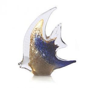 Pesce Angelo Aur şi Argint by Marcolin (Handmade crystal) 30 cm Made in Italy0