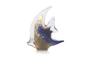 Pesce Angelo Aur şi Argint by Marcolin (Handmade crystal) 30 cm Made in Italy1