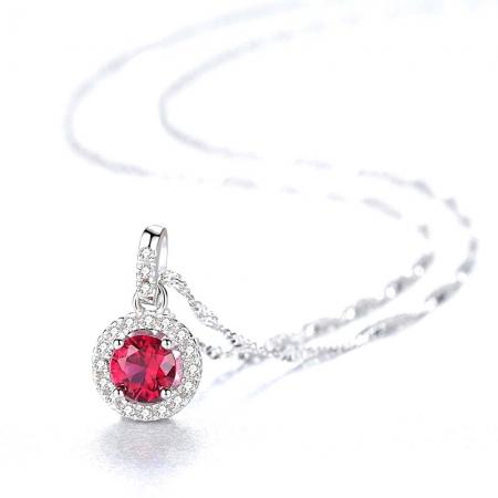 Pink Sapphire Pallace Set Cercei si Colier Argint 925 by Borealy2