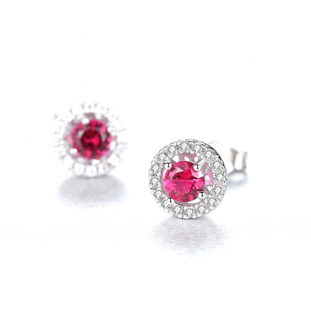 Pink Sapphire Pallace Set Cercei si Colier Argint 925 by Borealy1