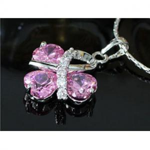 Colier Borealy Simulated Sapphire Pink Love2