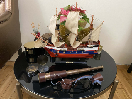 Traveller of the Seas: macheta corabie, luneta functionala, busola alama functionala [4]