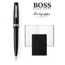 Set  Ballpoint  Armonia Nero Montegrappa si Note Pad Hugo Boss