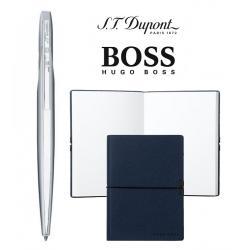 Set Pix Jet 8 PEN BILLE CHROME S. T. Dupont si Note Pad Blue Hugo Boss