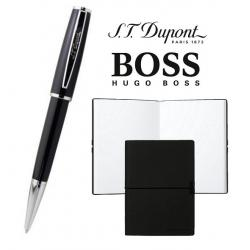 Set Pix S.T. Dupont St Michel Bille Laq Noire si Note Pad Black Hugo Boss