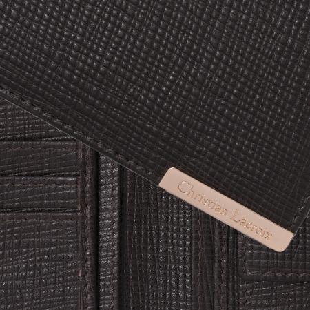 Portofel Christian Lacroix More Money Brown piele naturala si Cravata Matase Borealy1