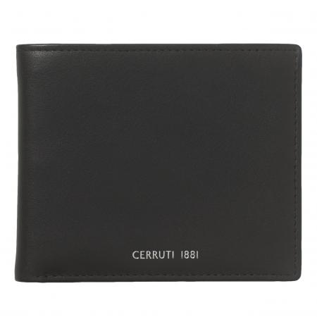 Portofel Cerruti 1881 Zoom Black piele naturala si Cravata Matase Borealy1