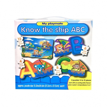Puzzle 4in1 Model ABC - jucarie creativ educativa2