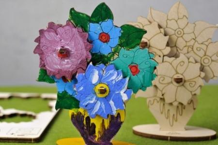 Puzzle din lemn Buchet de flori3