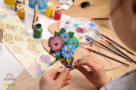 Puzzle din lemn Buchet de flori2