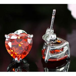 Cercei Borealy Sapphire Heart Red4