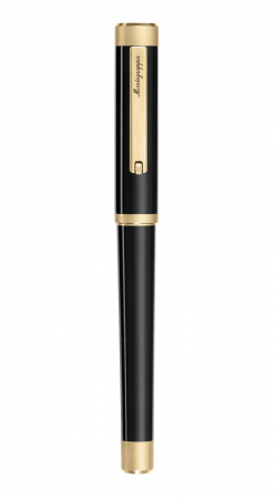 Roller  Zero, cu aur galben, penita M din otel inoxidabil1