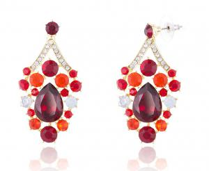 Royal Red Set Statement Colier si Cercei2