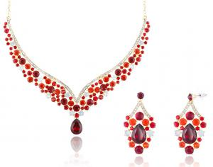 Royal Red Set Statement Colier si Cercei0