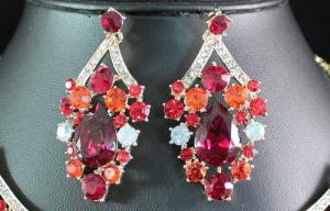 Royal Red Set Statement Colier si Cercei6