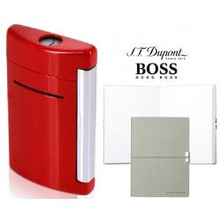 Set S.T. Dupont Minijet Lighter si Note Pad Grey Hugo Boss
