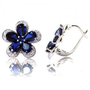 Safir Flowers Colier şi Cercei 10 carate & Silver 9255