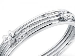 Brăţara Stylish Flower Simulated Diamond Bangle1