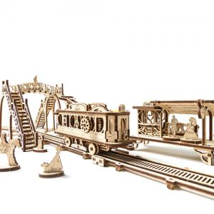 Tramvai cu statie Puzzle 3D Mecanic