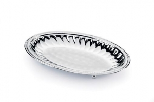 Sera Alhena oval fruit bowl - Bol argintat Alhena by Chinelli, made in Italy