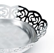 Bol placat cu argint Sera Alioth lacy bread basket by Chinelli, made in Italy1