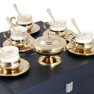Serviciu de Cafea 6 Persoane Gold Plated by Chinelli - made in Italy [2]