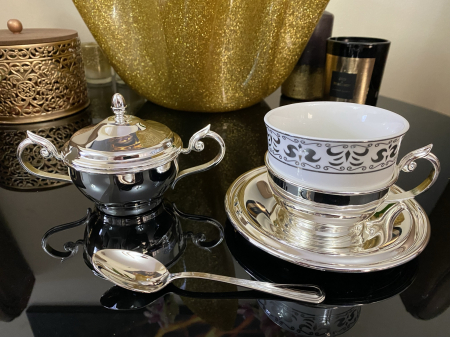 Serviciu de Cafea 6 Persoane Silver Plated by Chinelli - made in Italy [0]