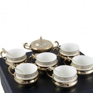 Serviciu de Cafea/ Ceai 6 Persoane Gold Plated by Chinelli - made in Italy3