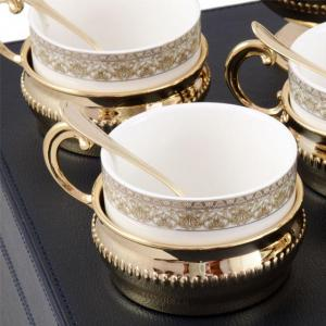 Serviciu de Cafea/ Ceai 6 Persoane Gold Plated by Chinelli - made in Italy5