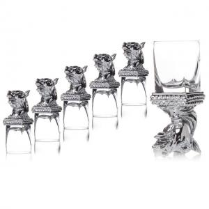 Set 6 Pahare Vodka Cavallo, by Chinelli - made in Italy