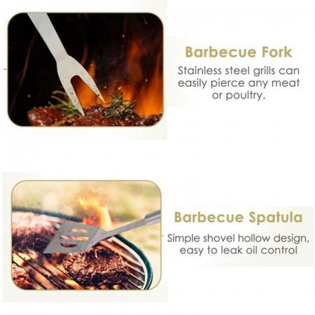Set 3 ustensile pentru grătar Barbeque2
